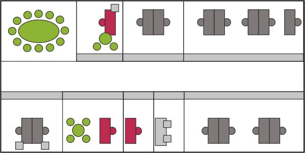 Schaubild Bürokonzepte - Das Gruppenbüro