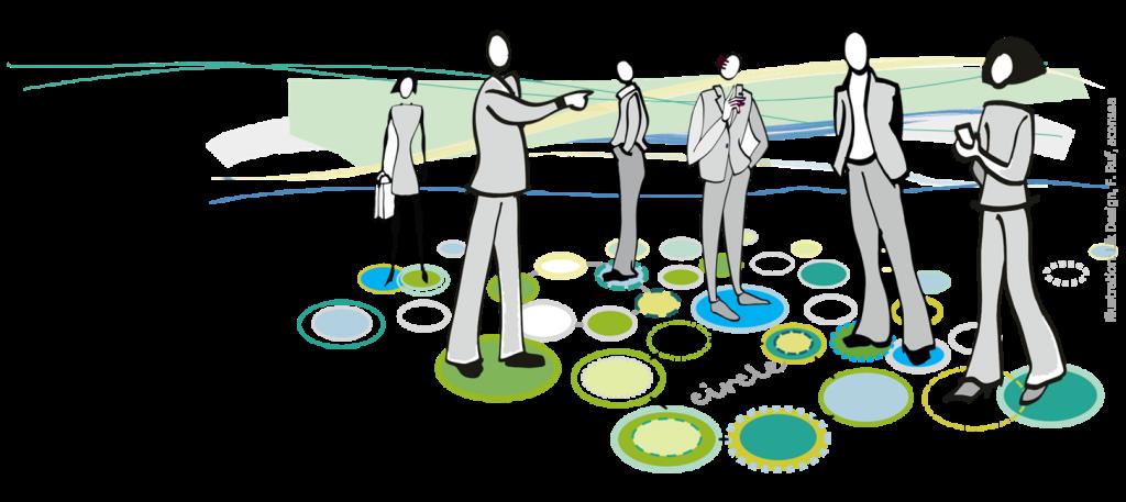 Illustration Teal Circles
