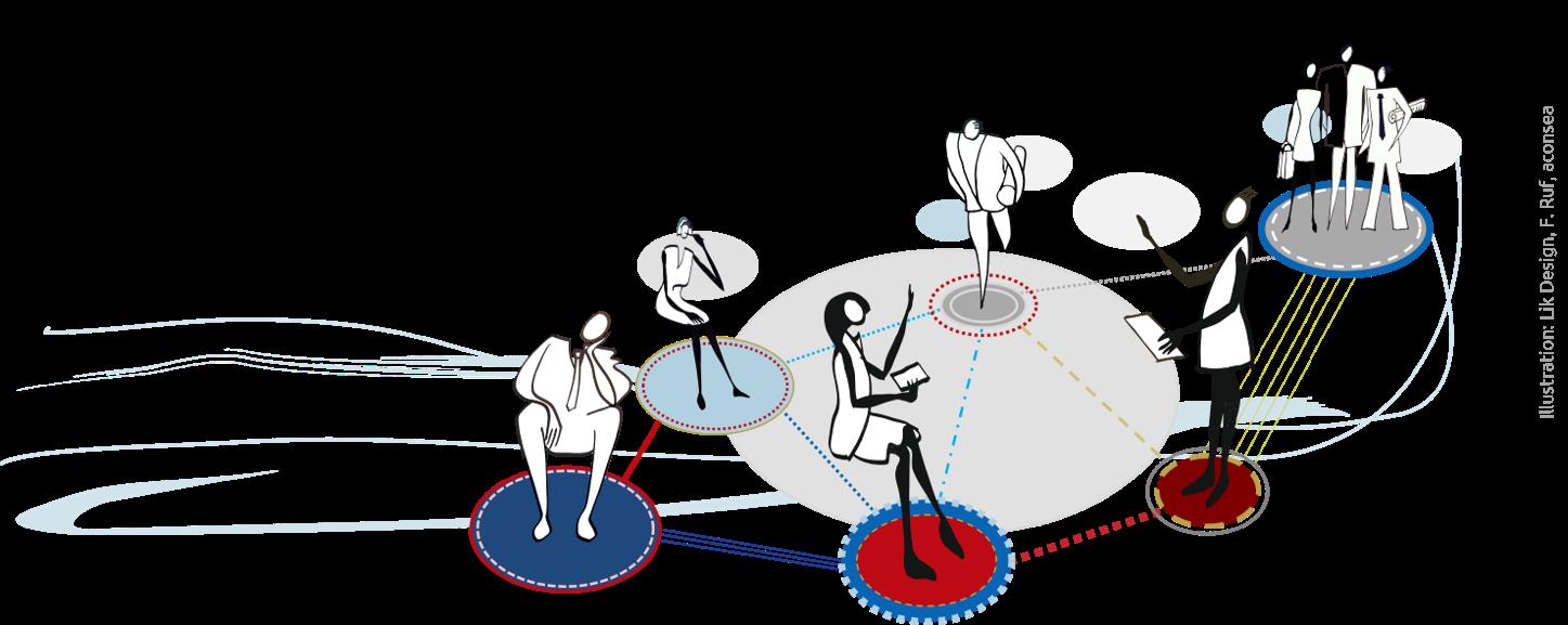 Illustration Coworking Netzwerk