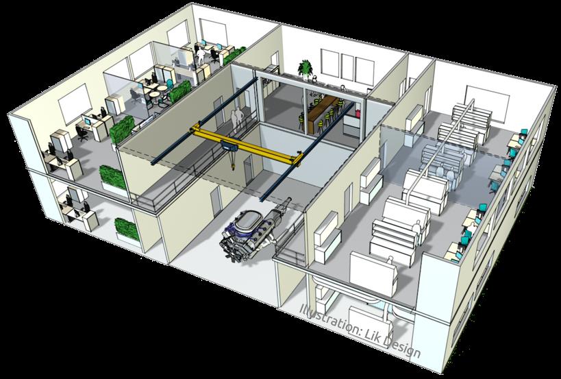 Illustration Laborgebäude