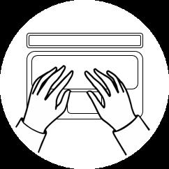 Büro Piktogramm Hand auf Tastatur
