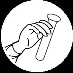 Labor Piktogramm Reagenzglas