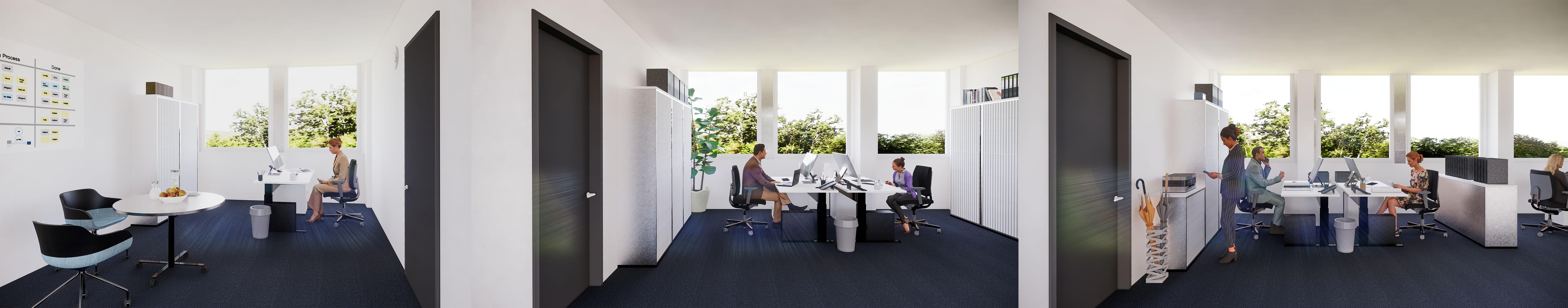 Bürokonzept Zellenbüro
